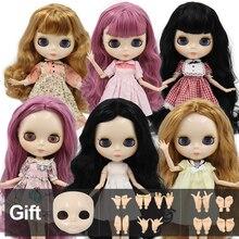 工場ブライス人形白スキン光沢のある顔共同体と手セットa & b 1/6 ファッション人形適しdiyメイク特別価格