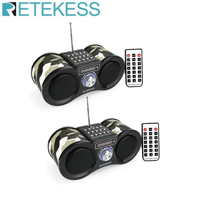 2pcs Retekess V113 FM סטריאו רדיו מקלט דיגיטלי MP3 נגן מוסיקה תמיכת מיקרו SD כרטיס/USB דיסק מרחוק שליטה