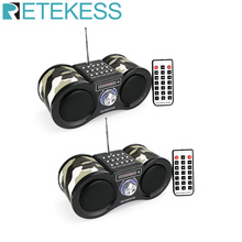 2pcs Retekess V113 FM Stereo Radio Receiver Digital MP3 Music Player Support Micro SD Card/USB Disk Remote Control