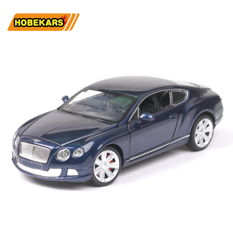 Diecast Model Car Benly GT W12 1:24 Metal Alloy Simulation Pull Back Cars Lights Toys Vehicles For Kids Gifts For Children