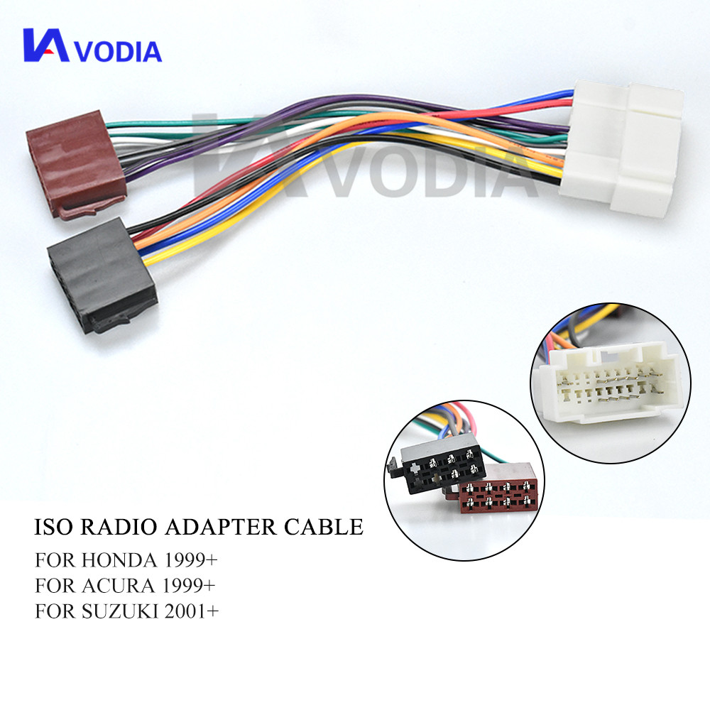 12-012 ISO Radio <font><b>Adapter</b></font> for <font><b>Honda</b></font> Acura Suzuki Fiat Nissan Opel Wiring Harness Connector Leads <font><b>Cable</b></font> Plug Adaptor image