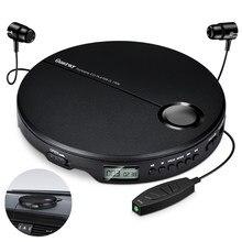 Reprodutor de música compacto para cd. portátil, reprodutor de música, hifi, cd com fones de ouvido, cd music player, discman