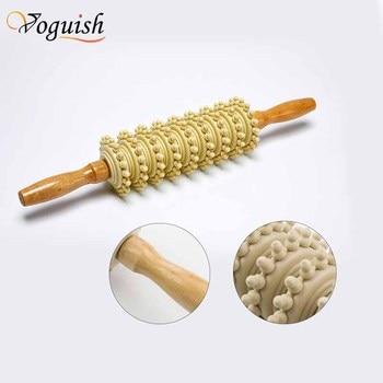 Деревянный массажер-скалка (Voguish/38x7 см/9 колес с шипами) для тела
