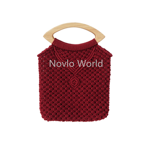 Image 5 - 2 10 20 pieces 4 Colors 20X9.5cm lip shape wood handle for knit bag,oka tree wooden simply crochet bag pen handles
