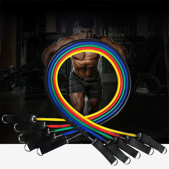 11pcs set Pull Rope Fitness Exercises Resistance Bands 5cTPR elastic Tubes  2