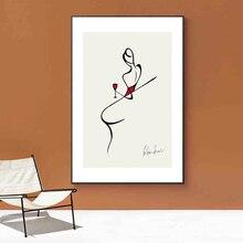 Настенная живопись на холсте минималистичные персонажи абстрактный