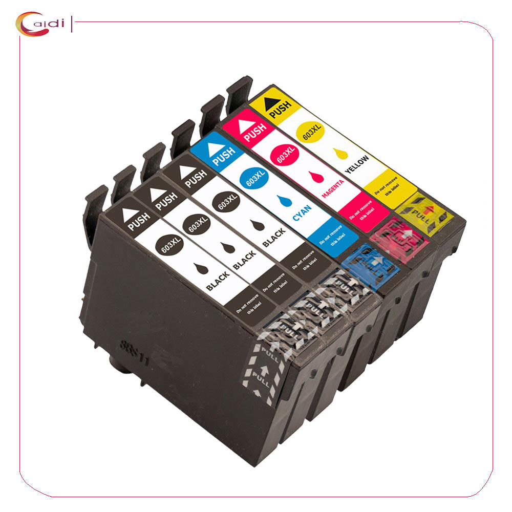 6 packs T603 603XL - Ink Cartridge Compatible For <font><b>Epson</b></font> Expression Home <font><b>XP</b></font>-3100 <font><b>XP</b></font>-4100 <font><b>XP</b></font>-<font><b>2100</b></font> <font><b>XP</b></font>-2105 <font><b>XP</b></font>-3105 <font><b>XP</b></font>-4105 Printer image