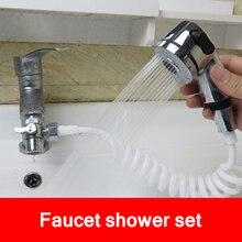 Faucet External Shower Head Bathroom Spray Drains Strainer Hose Sink Defence Splash Washing Hair Wash Shower dog shower head spray drains strainer hose sink washing hair pet bath tool flexible