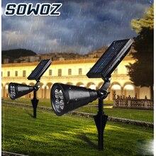 SOWOZ Solar Light  LED light Adjustable Solar Spotlight Buried IP65 Waterproof Landscape Wall Light Outdoor Lighting