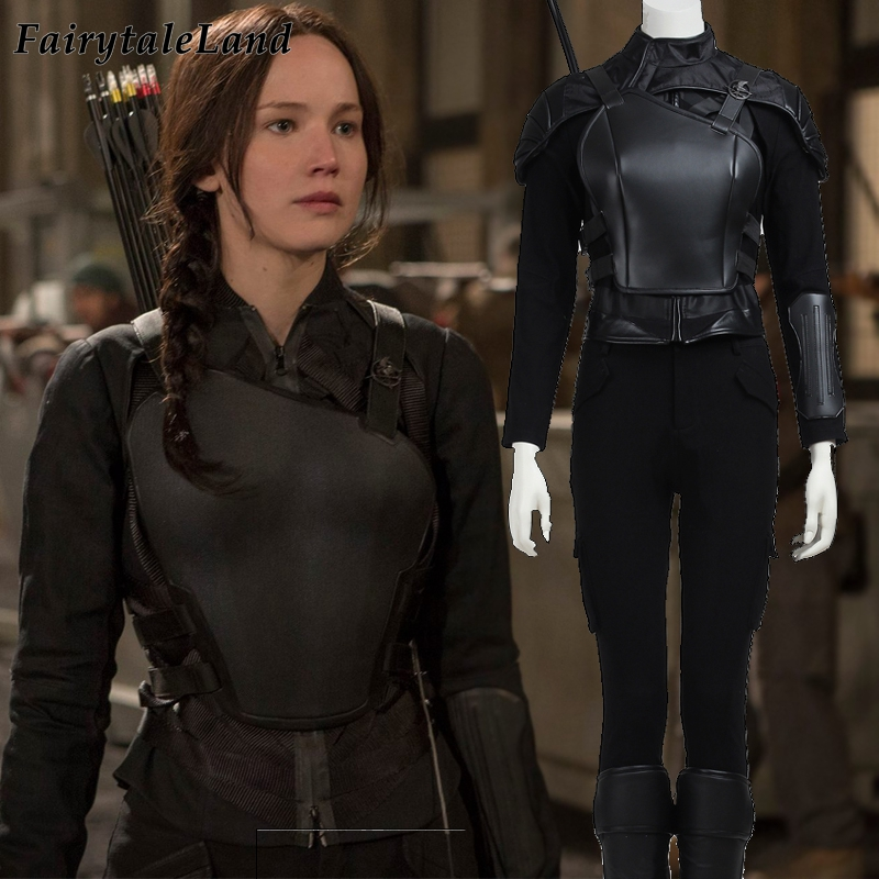 The Hunger Games Katniss Everdeen Cosplay Costume Halloween Superhero Outfit For Adult Black Katniss Everdeen Costume Fancy Suit