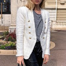 New Autumn winter Women Blazer Jacket Long Sleeve Slim Blazers Retro Double-breasted Jacket Ladies Casual Coat Outwear Cardigan(China)