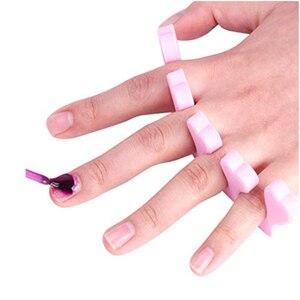Image 3 - 20pc=10pair 2019 Professional Nail Art Toes Popular Separators Fingers Foots Soft Sponge Beauty Tools Dividers Manicure Pedicure