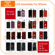 LCD Display For iPhone Xs Max X 8P 7P 8 7 Plus 6sP 6s 6 Plus 6P 5 5s 5sE 5C XsMax LCD Display Touch Screen Digitizer Assmebly цена и фото