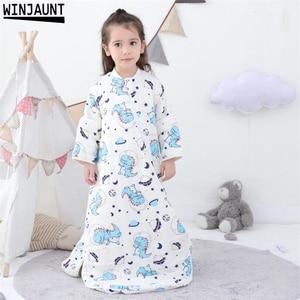 Image 2 - 0 12 Years Cotton Babi infant Sleepsack Detachable Sleeve Boys Sleep Sack Girls Baby Kids Childrens Envelope Baby Sleeping Bags