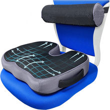 Non-Slip Memory Foam Seat Cushion For Back Pain Coccyx Orthopedic Car Office Chair Wheelchair Support Tailbone Sciatica Relief
