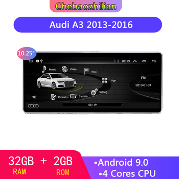 10.25 inch HD screen Android 9.0  Car GPS Navigation For Audi A3 2013-2016 multimedia player Radio WIFI Bluetooth 2+32G