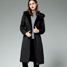 2019 Winter Jacket Women Long Parka Real Big Raccon Fur Collar Hooded Coat Natural Fur Lined Inside Lady Warm Snow Black Outwear winter long maternity hooded jacket pregnancy coat jacket fur collar side pocket drawstring coat for pregant woman snow outwear