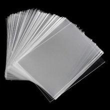 Novo 100 pçs transprant cartão capa protetora titular para o negócio jogando mesa placa jogo cartões de identificação photocard suportes