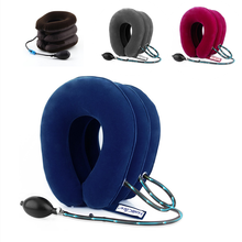 3 Layers Inflatable Neck Cervical Traction Massager Device Collar Vertebra Brace