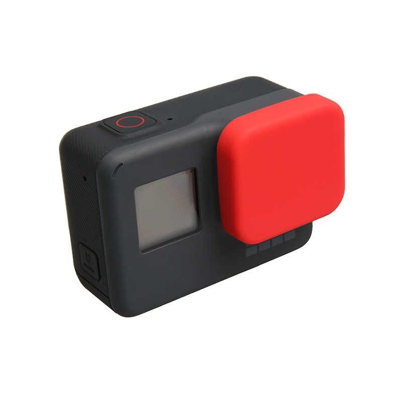 Housing Case Pelindung Silikon Lembut Hitam Tutup Lensa Penutup Untuk GoPro 4K Hero 5 6 7