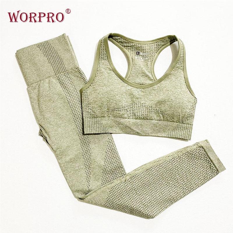 Two Piece Workout Set Yoga Sets Women Gym Clothes Vital Seamless Gym Set Women Active Wear Yoga Suit Gym Wear Fitness Clothing