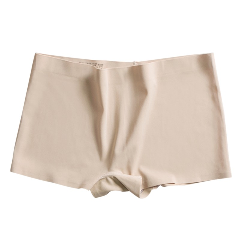 Women's Panties Ice Silk Safety Shorts Invisible Culotte Femme Seamless Sexy Solid Color Boxer Briefs Underwear Panties New