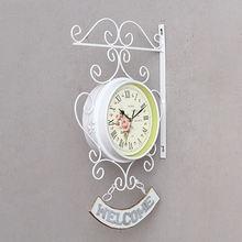 Напольные двойные часы с петушком садовые настенные наружные