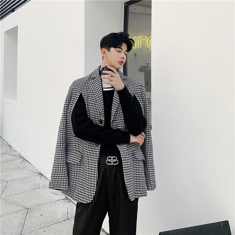 Мужская одежда 2 стиля, Свободный Повседневный толстый клетчатый пиджак, шаль, Мужская винтажная уличная мода, Блейзер, куртка, верхняя одежда|Повседневные пиджаки|   | АлиЭкспресс