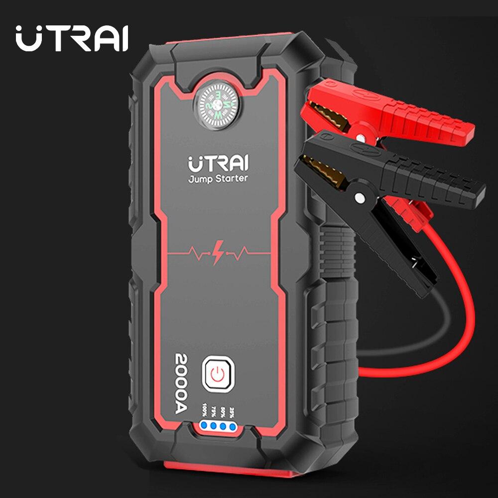UTRAI Car Jump Starter 22000mAh Power Bank Battery Car Auto Booster Charger Starting Emergency Battery Portable Car Jump Starter