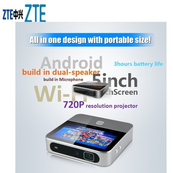 ZTE Spro 2 MF97E 4G LTE+WiFi Android Smart Projector From T-mobile Case EU vivicine smart pico projector p09 android 6 0 bluetooth built in 4000mah battery smart miracast airplay mobile proyector beamer