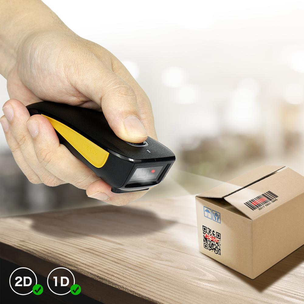 NETUM C750 Bluetooth Беспроводной 2D сканер штрих-кода карман QR считыватель штрих-кодов большого PDF417 для табака одежды Мобильных Платежей промышленн...