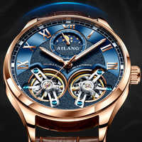AILANG original brand men's watch luxury mechanical watch double tourbillon steel strap fashion automatic watch