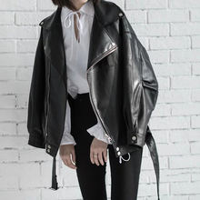 Классическая мотоциклетная байкерская куртка из искусственной