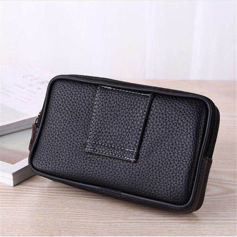 Men Waist Pack For Men Testificate Bag Mobile Phone Coin Purse Male Strap Casual Waist Bag Belt Waist Pouch Billetera Hombre