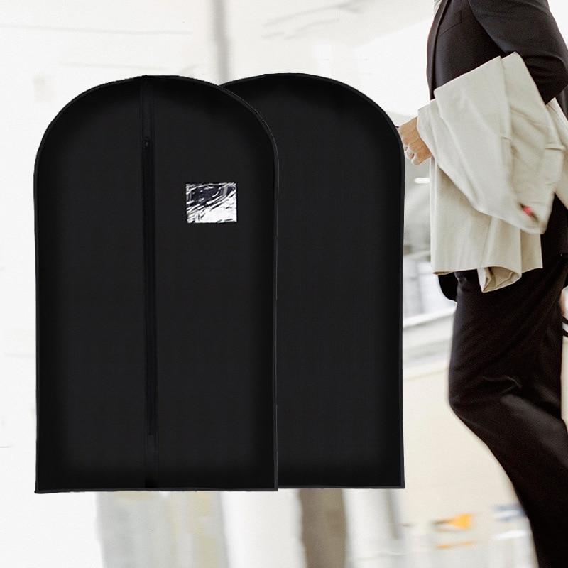 1Pcs Dustproof Hanger Coat Clothes Garment Suit Cover Storage Bags Clothes Storage Case Clothing Covers 3 Size For Men Women