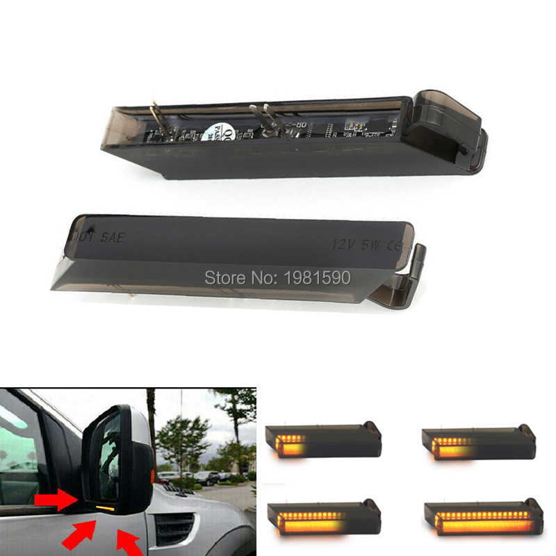 2x Led Dynamic Turn Signal Side Marker Light Sequential Blinker Light for <font><b>Ford</b></font> <font><b>F150</b></font> Raptor Expeditor Lincoln Mark LT <font><b>2006</b></font>~2008 image