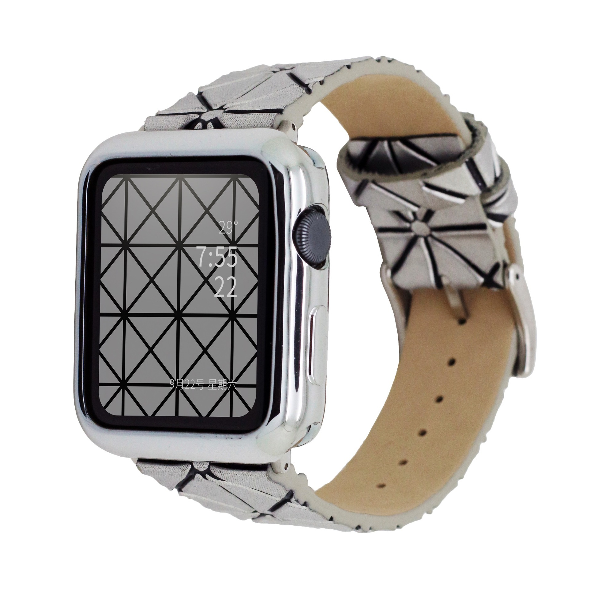 Issey Miyake Geometry Rhombus Watch Band For Apple AppleWatch Laser Grid Watch Strap Iwatch34