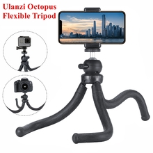 Ulanzi Octopus Flexible Tripod for Smartphone Tripod Stand Phone Holder for iPhone Max 8 Huawei Samsung Gopro Xiaomi DJI Camera mini flexible sponge octopus tripod for iphone samsung xiaomi huawei smartphone tripod stand holder for gopro camera dslr mount