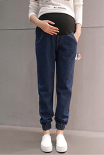 Spring Maternity Jeans for Pregnant Woman  Pregnancy Denim Pants Cotton Single Layer Trousers Maternity Clothing Plus Size