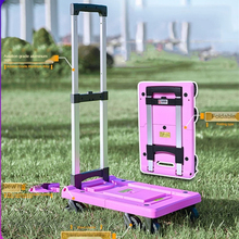 Hand-Truck Trolley Luggage for Home Travel Carts Dolly Foldable Lbs-Capacity 500 Aluminum-Alloy