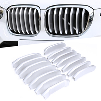 ABS Chrome Front Center Grill Grid Grille Cover Trim 14pcs For BMW X3 G01 X4 G02 2018 2019 Car Styling Accessories|Chromium Styling| |  -