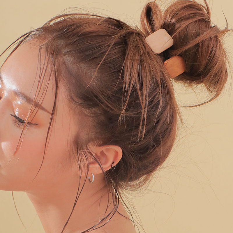 Lady Rubber Band Geometry Wooden Hair Rope Women Hair Accessories Elastic Hiar Band For Women Round Square Ponytail Holder