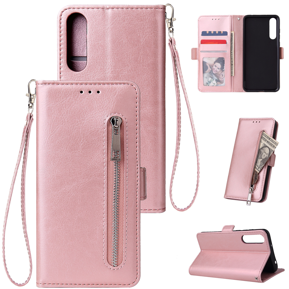 For <font><b>Huawei</b></font> <font><b>P20</b></font> P30 <font><b>Lite</b></font> Wallet Leather <font><b>Case</b></font> fashion zipper Flip Stand for <font><b>Huawei</b></font> <font><b>P20</b></font> P30 Pro Cover Mobile Phone Bag image