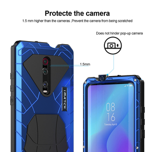 Image 3 - ل Xiaomi K20 برو جراب هاتف معدن الألمنيوم الصلب الثقيلة غطاء للحماية ل Xiaomi K20 برو مع الزجاج هدية