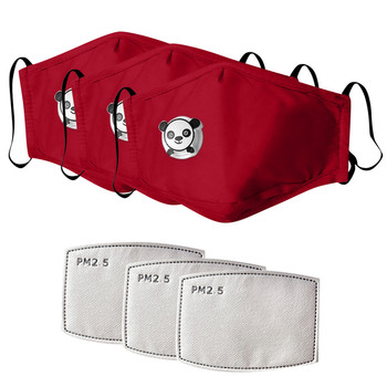 3pc kids maske with 3pc filter cot