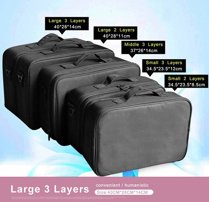 H457a7133dba14755a6b84dd8fc77bea85 - Female High Quality Professional Makeup Organizer Bolso Mujer Cosmetic Bag Large Capacity Storage case Multilayer Suitcase