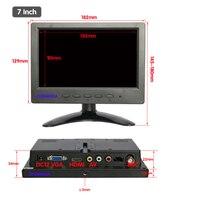 new 7 inch LCD monitor wide screen HD Monitor LCD BNC video monitor