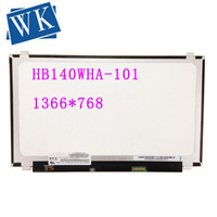 For BOE HB140WHA 101 HB140WHA 101 LED Screen Matrix for laptop 14.0 1366X768 HD 40Pin LCD Display Replacement Panel Monitor