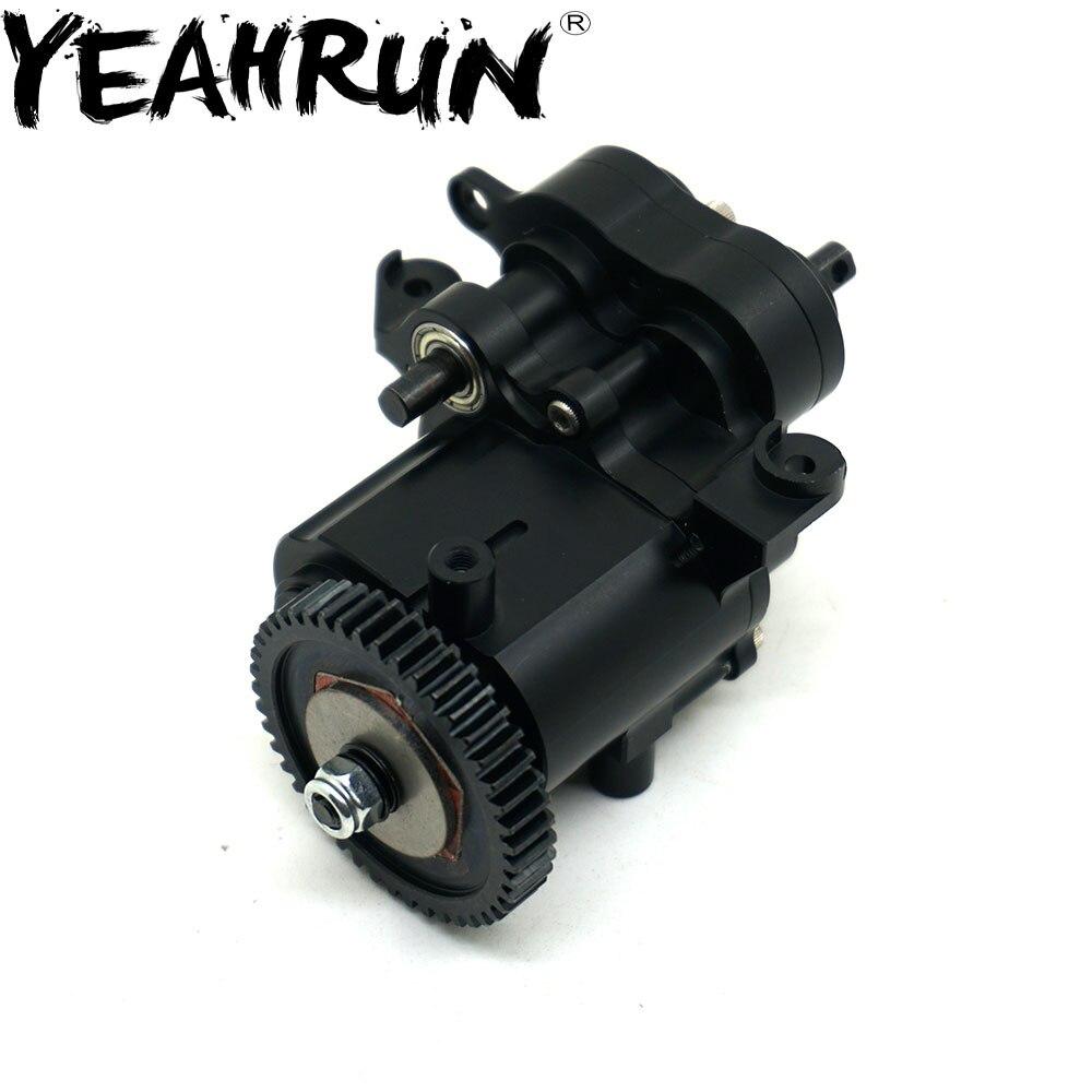 yeahrun aluminio centro de transmissao caixa de velocidades caixa de caso para 1 10 rc crawler