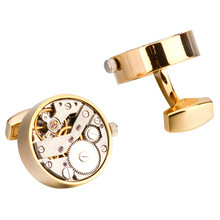 Watch Movement Cufflinks Men's Gifts Business Event Accessories Punk Style Turnable Mechanical Sense French Shirt Cuff Links